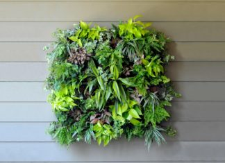 Balcony garden wall art feature
