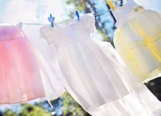 Line-drying-clothes