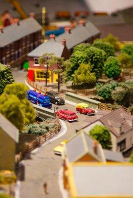 Plastic miniature town