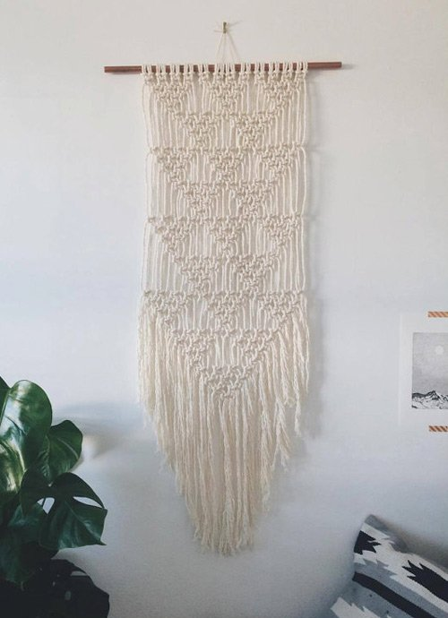 Natural wallart macrame