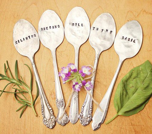 Antique-garden-herb-markers