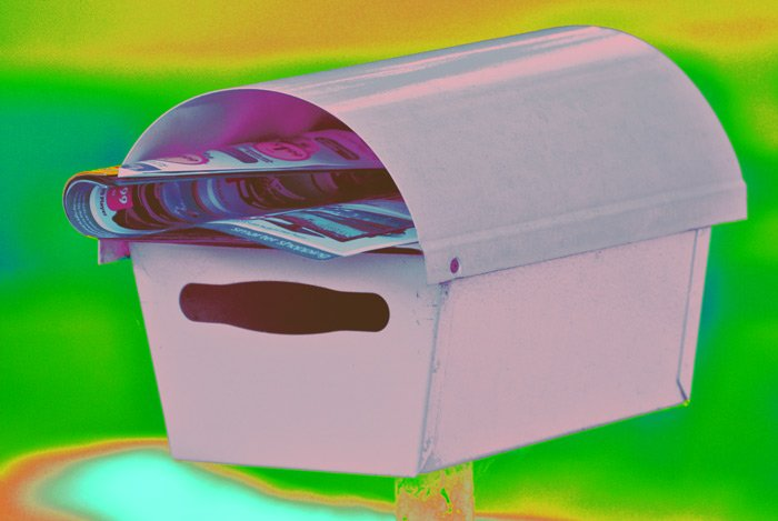 Junk mail mailbox