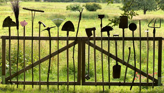 Recycled tools gate