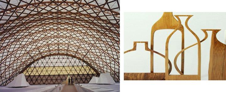 Bamboo architecture decor