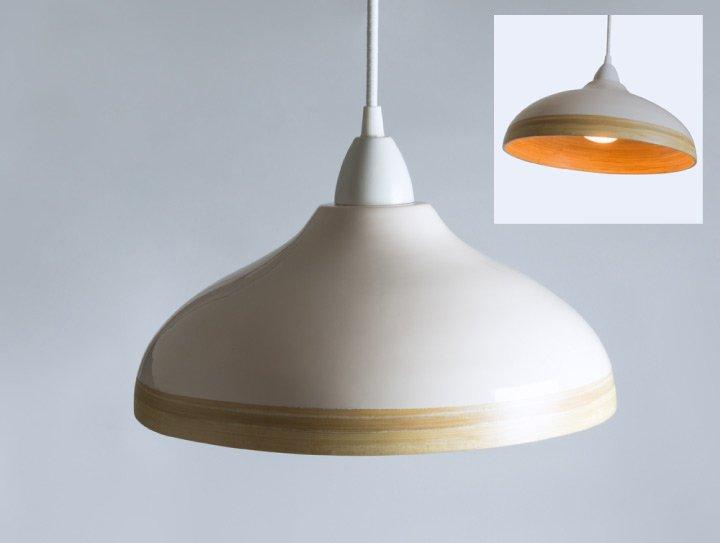 Bamboo lampshade cream