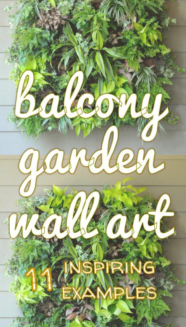 Balcony garden wall art