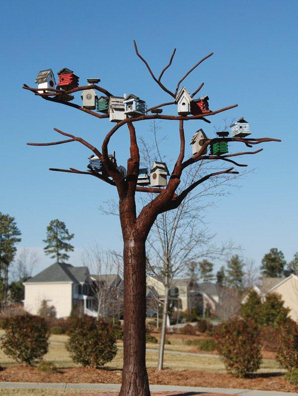 Birdhouses on tree