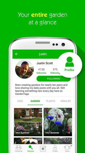 Garden Tags app