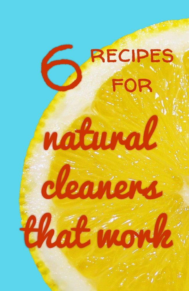 Natural cleaners lemons