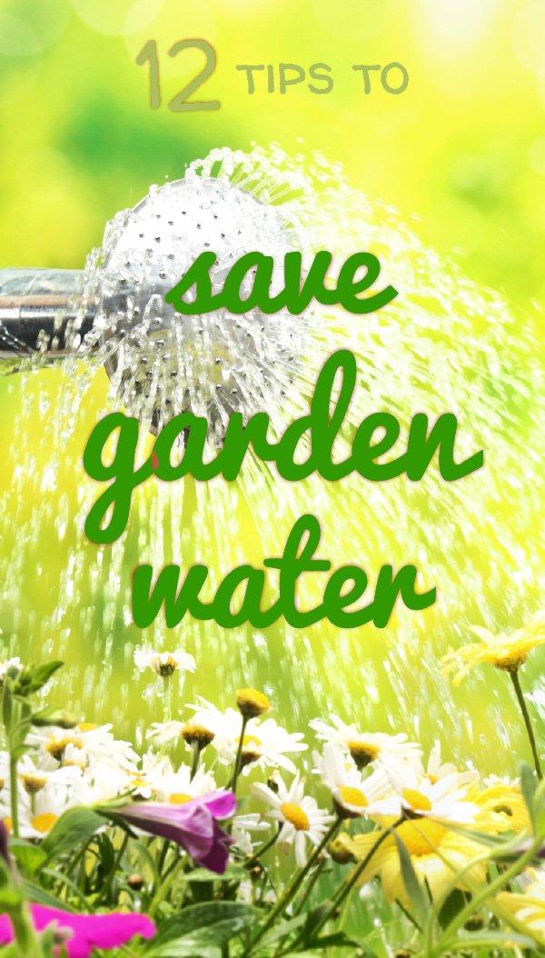 Save garden water