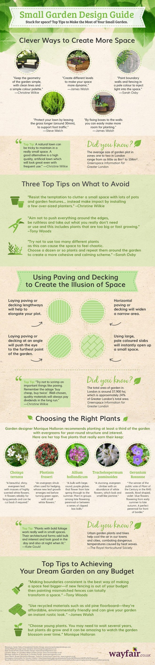small garden design infographic