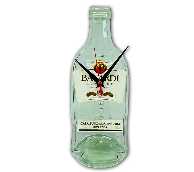 Bacardi bottle clock