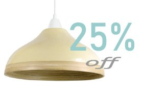 Wave-custard-cream-bamboo-lampshade-offer-25%-widget