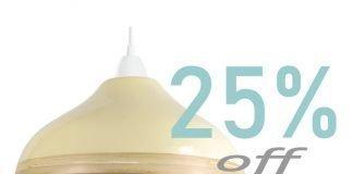 Wave-custard-cream-bamboo-lampshade-offer-feature