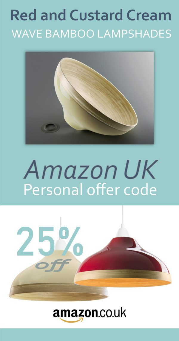 Bamboo lampshades red and cream discount code